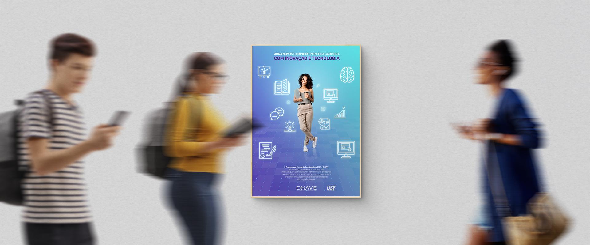 Identidade visual do novo programa interno da USF alia inovação ao ensino