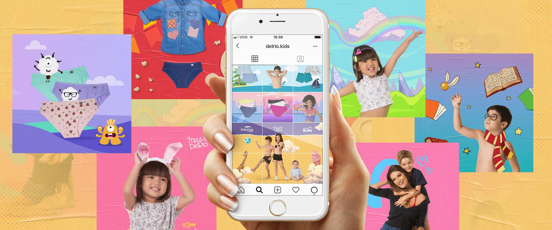 DelRio impacta seguidores das linhas infantis no Instagram