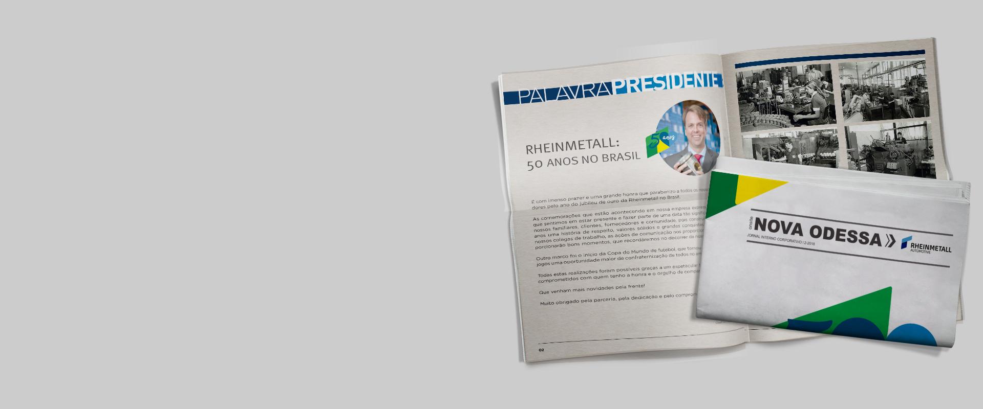 Jornal comemorativo da RHEINMETALL AUTOMOTIVE
