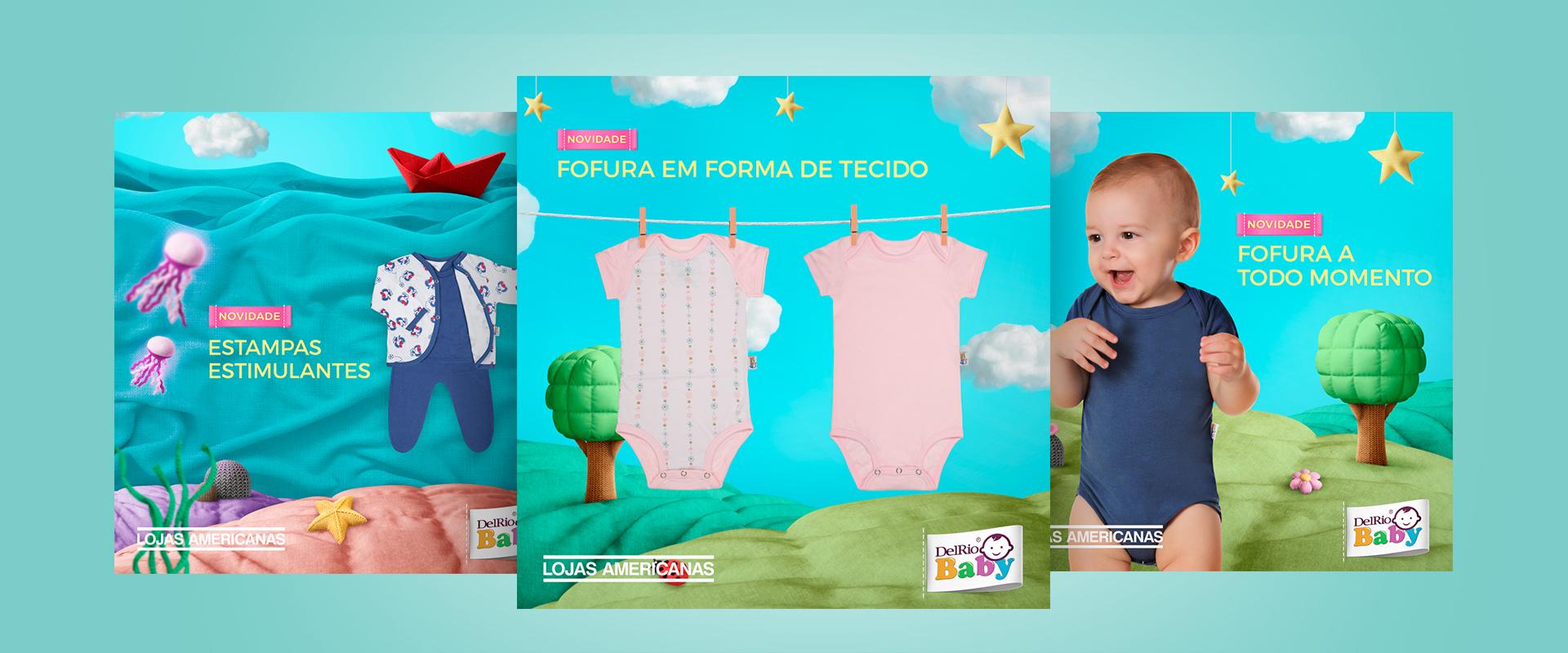 Campanha Digital DELRIO BABY e LOJAS AMERICANAS