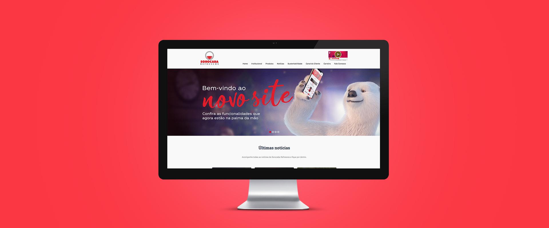 Sorocaba Refrescos: Campanha de lançamento do novo site