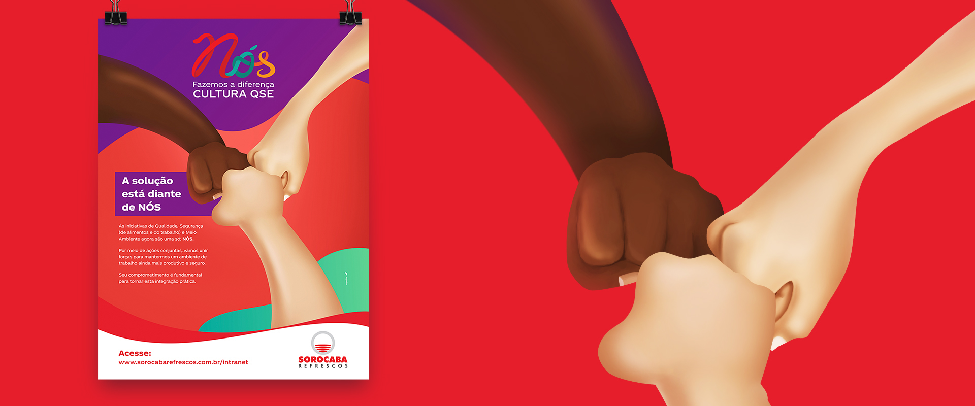 Nós, a nova iniciativa interna da Sorocaba Refrescos, franquia do Sistema Coca-Cola Brasil, é assinada pela Impulsa